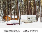 rv campsite in snow  custer... | Shutterstock . vector #235944694