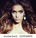 sexy young woman wiht chick... | Shutterstock . vector #235946800