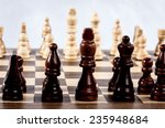 chess board against white... | Shutterstock . vector #235948684