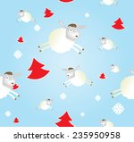 christmas pattern with sheeps... | Shutterstock .eps vector #235950958