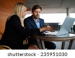 group of successful business... | Shutterstock . vector #235951030