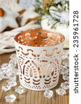 White Candle Holder With...