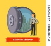 bank vault room safe door with... | Shutterstock .eps vector #235964059