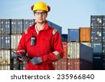 logistics manager at a... | Shutterstock . vector #235966840