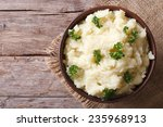 hot mashed potatoes with... | Shutterstock . vector #235968913