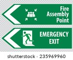 fire assembly point  and... | Shutterstock .eps vector #235969960