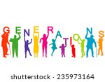 generations concept with people ...   Shutterstock .eps vector #235973164