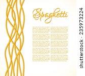 realistic twisted spaghetti... | Shutterstock .eps vector #235973224