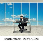 angry businessman looking at... | Shutterstock . vector #235973323