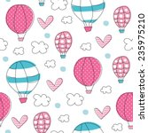 air balloons pattern vector... | Shutterstock .eps vector #235975210