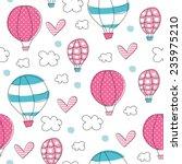 air balloons pattern vector...   Shutterstock .eps vector #235975210