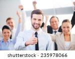 feeling confident in his team.... | Shutterstock . vector #235978066