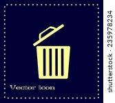 vector illustration of rubbish... | Shutterstock .eps vector #235978234