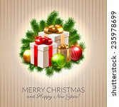 christmas postcard  shiny... | Shutterstock .eps vector #235978699