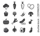 vegetables icon set | Shutterstock .eps vector #235980529