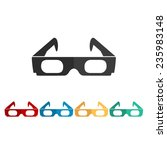 3d glasses    vector icon  flat ... | Shutterstock .eps vector #235983148