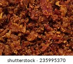 Close Up Of Bacon Bits Texture...