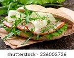 sandwich of wholemeal bread ...   Shutterstock . vector #236002726
