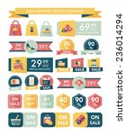 shopping sale banner flat... | Shutterstock .eps vector #236014294