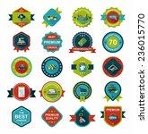 shopping badge banner flat... | Shutterstock .eps vector #236015770