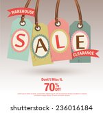 warehouse sale clearance tag...   Shutterstock .eps vector #236016184
