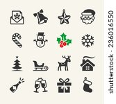christmas icons collection.... | Shutterstock .eps vector #236016550