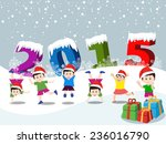 merry christmas and happy new... | Shutterstock .eps vector #236016790