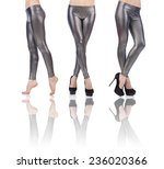 woman legs isolated on the... | Shutterstock . vector #236020366