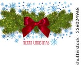 christmas background with fir... | Shutterstock .eps vector #236024968