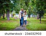 amorous couple taking walk in... | Shutterstock . vector #236032903
