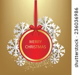 christmas greeting card. vector ... | Shutterstock .eps vector #236036986