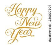 happy new year background | Shutterstock .eps vector #236037904