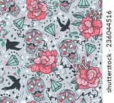 vector seamless pattern with... | Shutterstock .eps vector #236044516