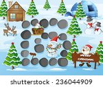 board game with merry christmas ... | Shutterstock .eps vector #236044909