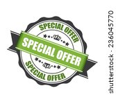 special offer stamp  label  and ... | Shutterstock . vector #236045770