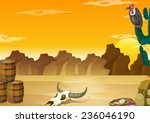 Wallpaper With Desert Scene In...