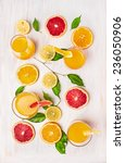 composing of citrus juices and... | Shutterstock . vector #236050906