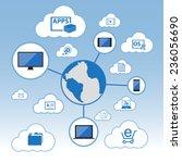 big data icons set  cloud... | Shutterstock .eps vector #236056690