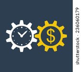 time is money  income growth ... | Shutterstock .eps vector #236060179