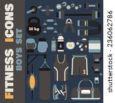 set of fitness icons in flat... | Shutterstock .eps vector #236062786
