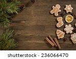 homemade christmas gingerbread... | Shutterstock . vector #236066470