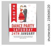 dance party flyer. vector | Shutterstock .eps vector #236068120