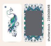 phone case collection  delicate ... | Shutterstock .eps vector #236068648