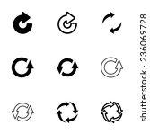 vector black refresh icon set... | Shutterstock .eps vector #236069728