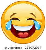 laughing emoticon with tears of ... | Shutterstock .eps vector #236072014
