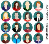 people icon set   Shutterstock .eps vector #236072149