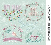 set of winter  christmas  new... | Shutterstock .eps vector #236072734