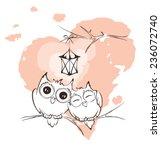 Valentine Card   Love Owls