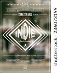 Indie Rock Music Poster...