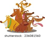 cartoon vector illustration of... | Shutterstock .eps vector #236081560